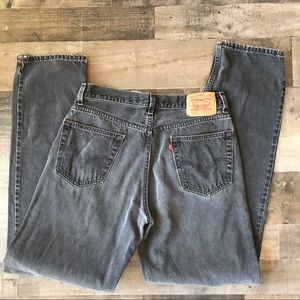 Levi's 550 Relaxed Fit Black Jeans 34/36 Worn In